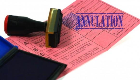 annulation permis